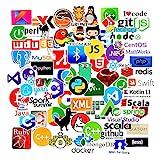 Sanmatic Autocollant Lot 72Pcs Stickers pour Ordinateur Portable langage Autocollant de Programmation...