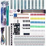 ELEGOO Kit Électronique Mis à Jour avec Module d'alimentation, Câbles Jumpers, Potentiomètre de...