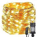 LE Lighting EVER Guirlande Lumineuse 22m, 200 LED en Cuivre, Imperméable, Lumière Etoilée, Blanc Chaud,...