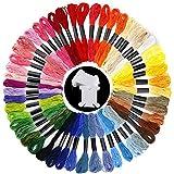 50échevettes Rainbow Couleur Fil à broder Fil à broder point de croix Fil dentaire avec 15pièces...