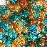 K2 Accessories A1413 Lot de 200perles de verre craqueléAqua/marron clair4mm
