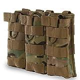 XUE Porte Chargeur Molle Triple pour Pistolet M4 M16 AR15 HK416 Militaire Pochette des Magasins pour Airsoft...