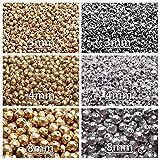 Tchèque Perles en verre Fire-Polished Rond 3mm, 4mm, 8mm, deux couleurs – Aztec Gold, Silver Metallic, Set...